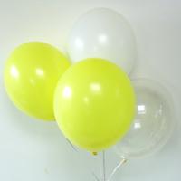 12 ballons de baudruche assortiment jaune