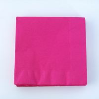 20 serviettes unies fuchsia