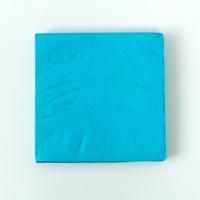 20 serviettes unies turquoise