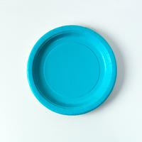 8 assiettes dessert turquoise