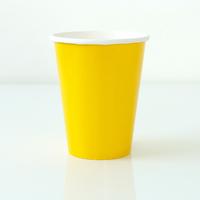 8 gobelets unis jaune tournesol