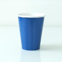 8 gobelets unis bleu roi