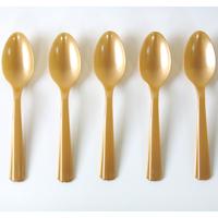 10 petites cuillères en plastique doré