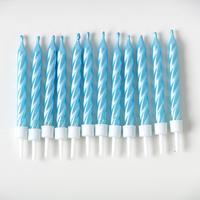 12 bougies bleu nacré