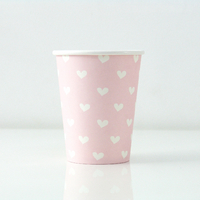 12 gobelets cœur - rose clair