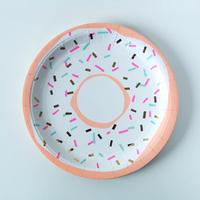 8 assiettes carton jetables donut
