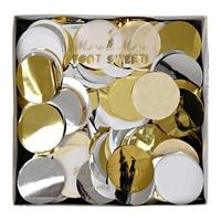 Confettis papier de soie assortiment métallique