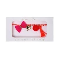 Bracelet rose à breloques