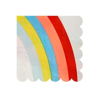 20 petites serviettes arc-en-ciel