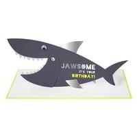 1 carte anniversaire requin