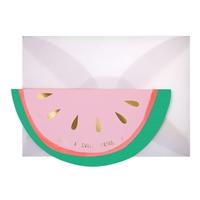 1 carte anniversaire pastèque