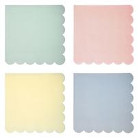 20 serviettes pastel