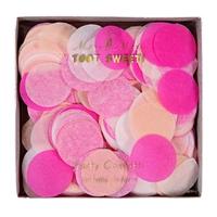 Confettis papier de soie rose
