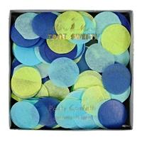 Confettis papier de soie bleus