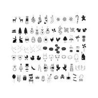85 symboles célébration noirs pour lightbox