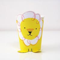 12 gobelets carton lion