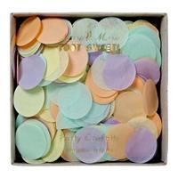 Confettis papier de soie pastel