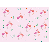 8 sets de table flamant rose