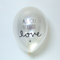 6 ballons de baudruche All you need is love