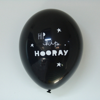 6 ballons de baudruche Hip hip hooray