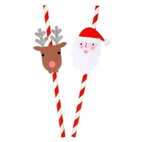 24 pailles de Noel