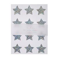 Stickers étoile holographique argent