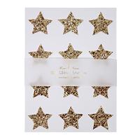 Stickers étoile paillettes dorées