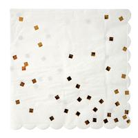 16 serviettes papier confettis dorés