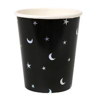 8 gobelets carton étoile et lune