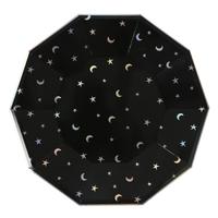 8 assiettes carton étoile et lune