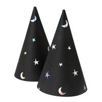 8 mini chapeaux pointus étoile et lune