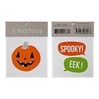 2 tatouages halloween citrouille