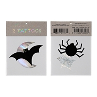2 tatouages enfant araignée et chauve-souris
