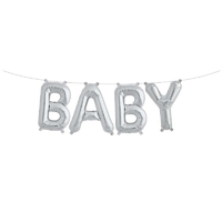 Kit Ballons lettres BABY argent
