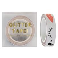 Masking tape bouche et œil glitter