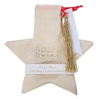 3 sachets cadeaux étoile de Noel