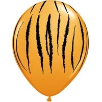 10 ballons de baudruche imprimés tigre