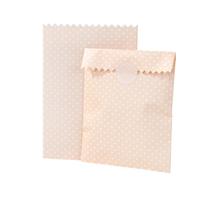 10 pochettes cadeau papier pêche à pois