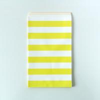 15 pochettes cadeaux papier rayures jaune
