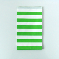 15 pochettes cadeaux papier rayures vertes