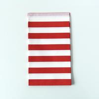 15 pochettes cadeaux papier rayures rouge