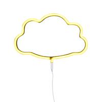 Néon nuage jaune