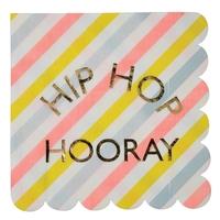 16 serviettes papier hip hip hip hourra