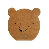 20 serviettes en papier ours