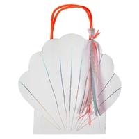 8 sacs cadeaux papier coquillage