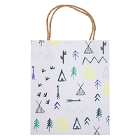 8 sacs cadeaux aventurier en papier