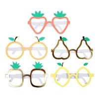 10 lunettes fruits en carton