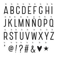 85 lettres et symboles pour lightbox