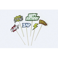 6 cake toppers comics