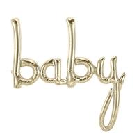 Ballon baby doré